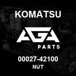 00027-42100 Komatsu NUT | AGA Parts