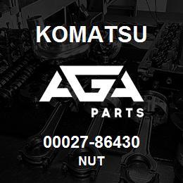 00027-86430 Komatsu NUT   AGA Parts