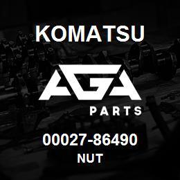 00027-86490 Komatsu NUT   AGA Parts