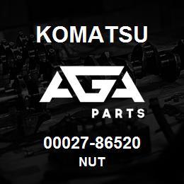 00027-86520 Komatsu NUT | AGA Parts