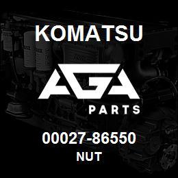 00027-86550 Komatsu NUT   AGA Parts