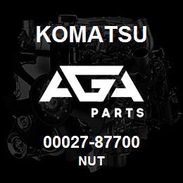00027-87700 Komatsu NUT | AGA Parts