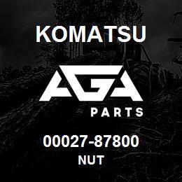 00027-87800 Komatsu NUT | AGA Parts