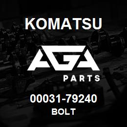 00031-79240 Komatsu BOLT | AGA Parts