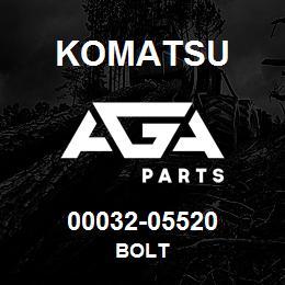 00032-05520 Komatsu BOLT | AGA Parts