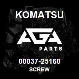 00037-25160 Komatsu SCREW | AGA Parts