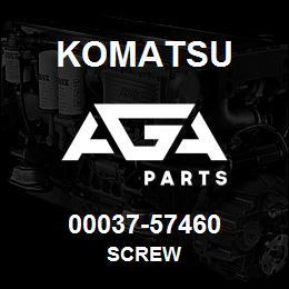 00037-57460 Komatsu SCREW | AGA Parts