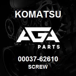 00037-62610 Komatsu SCREW | AGA Parts