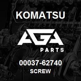 00037-62740 Komatsu SCREW | AGA Parts