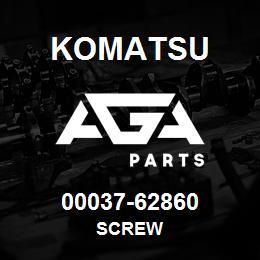 00037-62860 Komatsu SCREW   AGA Parts