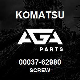 00037-62980 Komatsu SCREW | AGA Parts