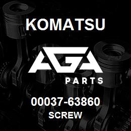 00037-63860 Komatsu SCREW   AGA Parts