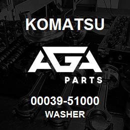 00039-51000 Komatsu WASHER | AGA Parts