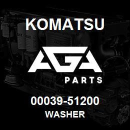 00039-51200 Komatsu WASHER | AGA Parts