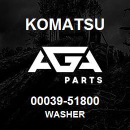 00039-51800 Komatsu WASHER | AGA Parts
