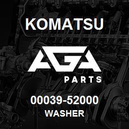 00039-52000 Komatsu WASHER | AGA Parts