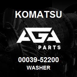 00039-52200 Komatsu WASHER | AGA Parts