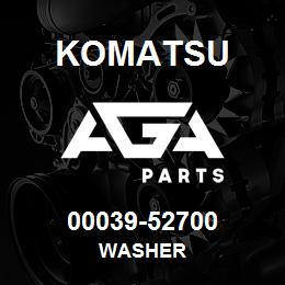 00039-52700 Komatsu WASHER   AGA Parts