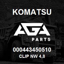 000443450510 Komatsu Clip NW 4,8 | AGA Parts