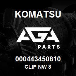 000443450810 Komatsu Clip NW 8 | AGA Parts
