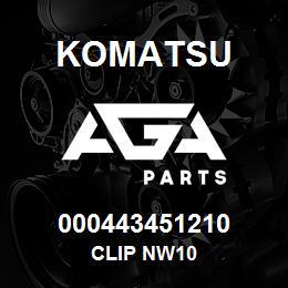 000443451210 Komatsu Clip NW10 | AGA Parts