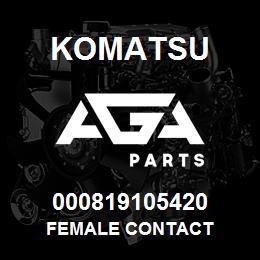 000819105420 Komatsu Female contact | AGA Parts