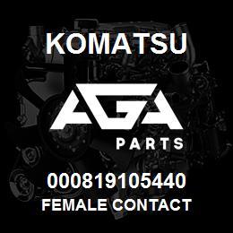 000819105440 Komatsu Female contact | AGA Parts