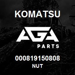 000819150808 Komatsu Nut | AGA Parts