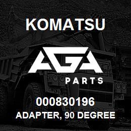 000830196 Komatsu ADAPTER, 90 DEGREE   AGA Parts