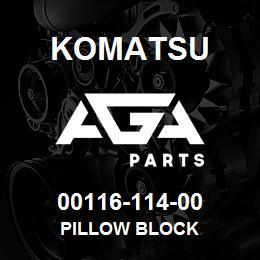00116-114-00 Komatsu PILLOW BLOCK | AGA Parts