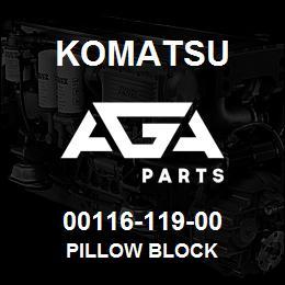 00116-119-00 Komatsu PILLOW BLOCK | AGA Parts