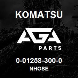 0-01258-300-0 Komatsu NHOSE   AGA Parts
