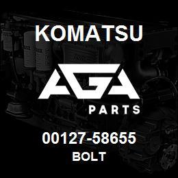 00127-58655 Komatsu BOLT | AGA Parts