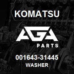 001643-31445 Komatsu WASHER | AGA Parts