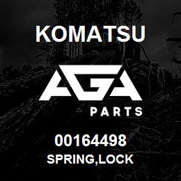 00164498 Komatsu SPRING,LOCK | AGA Parts