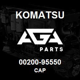 00200-95550 Komatsu CAP | AGA Parts