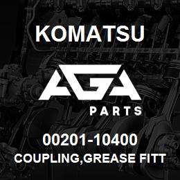 00201-10400 Komatsu COUPLING,GREASE FITTING   AGA Parts