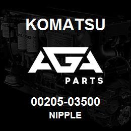 00205-03500 Komatsu NIPPLE | AGA Parts