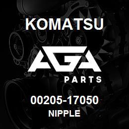 00205-17050 Komatsu NIPPLE | AGA Parts