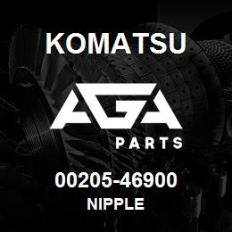 00205-46900 Komatsu NIPPLE | AGA Parts