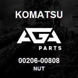 00206-00808 Komatsu NUT   AGA Parts