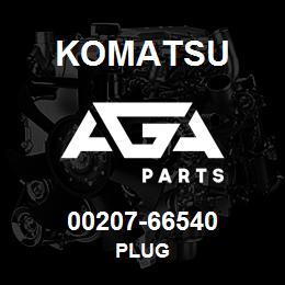 00207-66540 Komatsu PLUG | AGA Parts