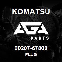 00207-67800 Komatsu PLUG | AGA Parts