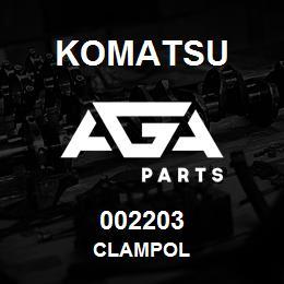 002203 Komatsu CLAMPOL | AGA Parts