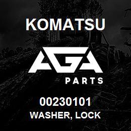 00230101 Komatsu WASHER, LOCK | AGA Parts