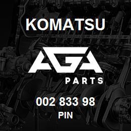 002 833 98 Komatsu Pin | AGA Parts