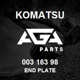 003 163 98 Komatsu End plate | AGA Parts