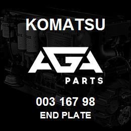 003 167 98 Komatsu End plate | AGA Parts
