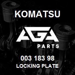 003 183 98 Komatsu Locking plate | AGA Parts
