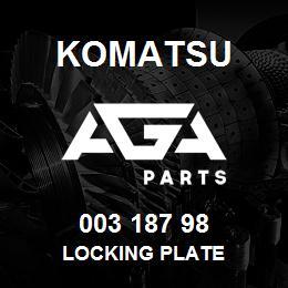 003 187 98 Komatsu Locking plate   AGA Parts